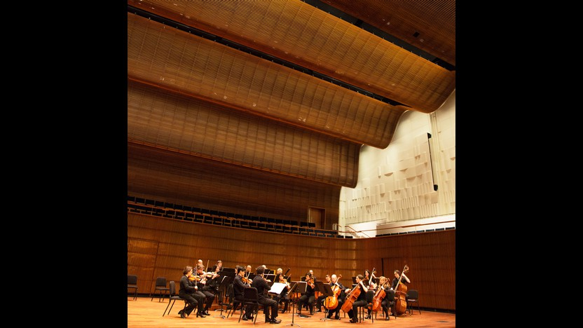 NEW Ordway Concert Hall with musicians