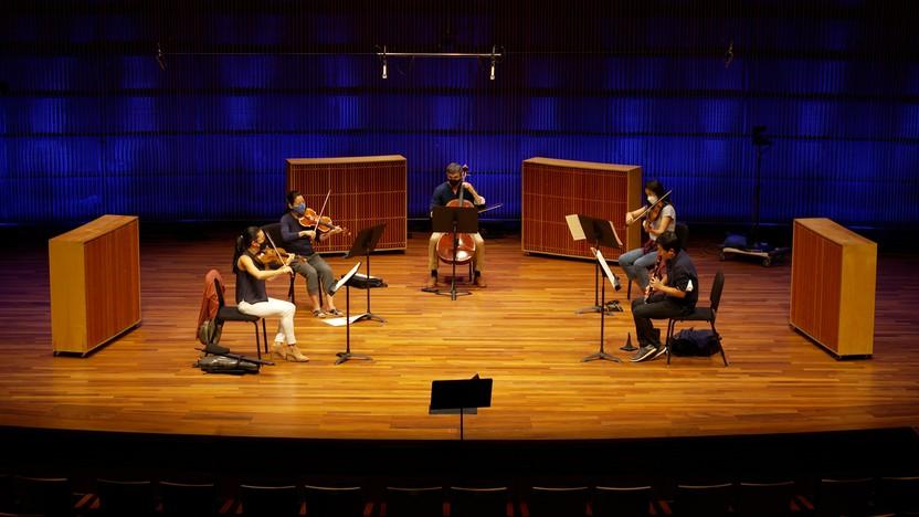 Brahms' Clarinet Quintet rehearsal